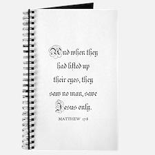 MATTHEW 17:8 Journal