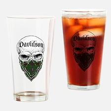 Davidson Tartan Bandit Drinking Glass