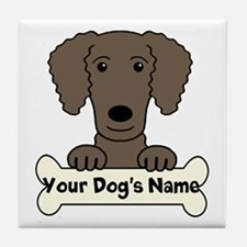 Personalized Curly-Coated Retriever Tile Coaster