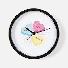 Bella & Edward Valentine Wall Clock