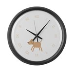 Dog design Large Wall Clock
