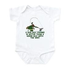 Funny Fly Fishing Infant Bodysuit