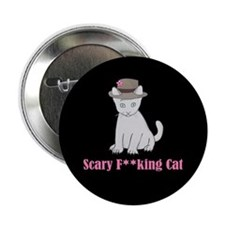 "Scary F-ing Cat 2.25"" Button"