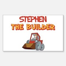 Stephen the Builder Rectangle Decal