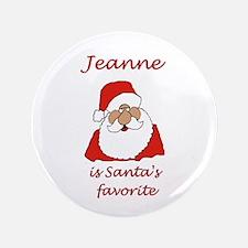 "Jeanne Christmas 3.5"" Button"