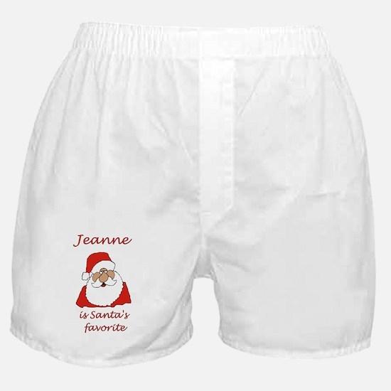 Jeanne Christmas Boxer Shorts