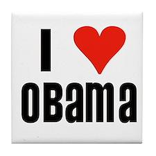 I Heart Obama Tile Coaster