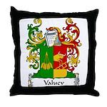 Valuev Family Crest Throw Pillow