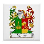 Valuev Family Crest Tile Coaster
