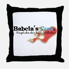 Babcia's Hot Flashes Throw Pillow