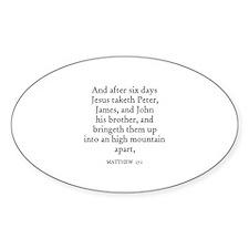 MATTHEW 17:1 Oval Decal