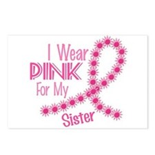 I Wear Pink For My Sister 26 Postcards (Package of