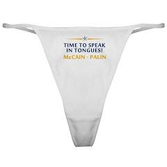 Time to Speak in Tongues - Sarah Palin Thong