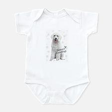 Cute Standard poodle christmas Infant Bodysuit