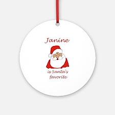 Janine Christmas Ornament (Round)