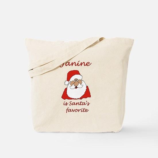 Janine Christmas Tote Bag