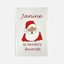 Janine Christmas Rectangle Magnet