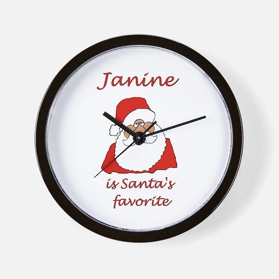 Janine Christmas Wall Clock