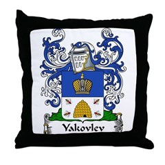 Yakovlev Family Crest Throw Pillow