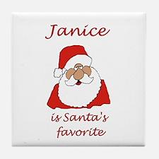Janice Christmas Tile Coaster