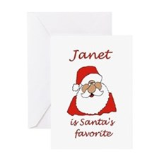 Janet Christmas Greeting Card