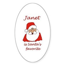 Janet Christmas Oval Decal