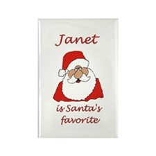 Janet Christmas Rectangle Magnet (100 pack)