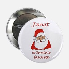 """Janet Christmas 2.25"""" Button (10 pack)"""