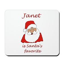 Janet Christmas Mousepad