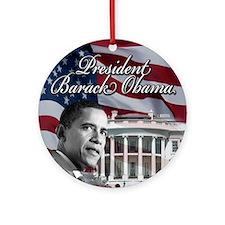 President barack Obama Ornament (Round)