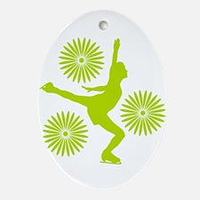 Figure Skating Oval Ornament