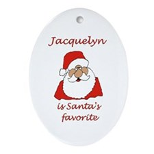 Jacquelyn Christmas Oval Ornament
