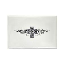 Celtic Tribal Cross Rectangle Magnet