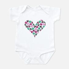 Paw Print Heart Infant Bodysuit
