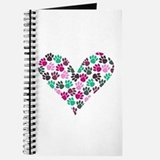 Paw Print Heart Journal
