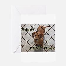 Cute Dachshund shopping Greeting Card