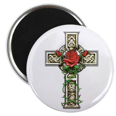 Celtic Rose Cross Magnet