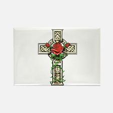 Celtic Rose Cross Rectangle Magnet