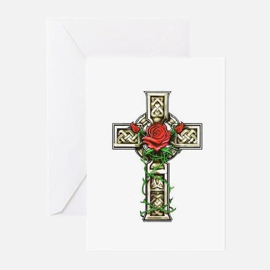 Celtic Rose Cross Greeting Cards (Pk of 10)