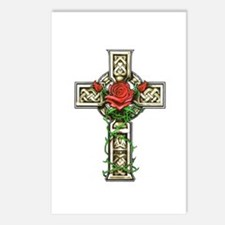 Celtic Rose Cross Postcards (Package of 8)