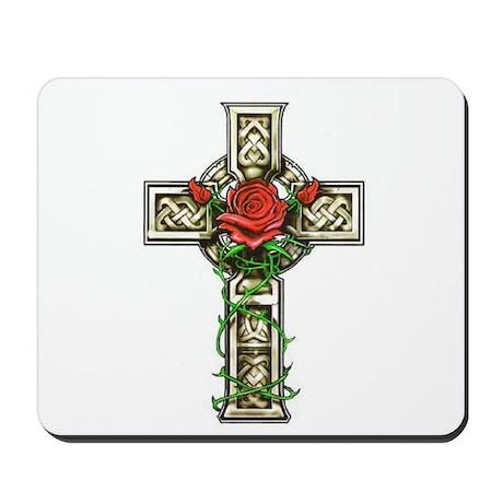 Celtic Rose Cross Mousepad
