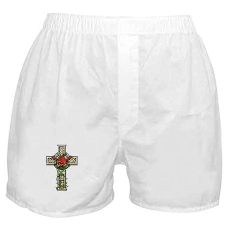 Celtic Rose Cross Boxer Shorts