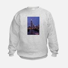 Chicago Nighttime Skyline Sweatshirt