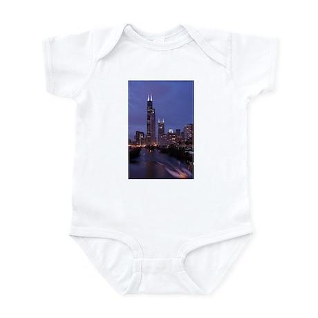 Chicago Nighttime Skyline Infant Bodysuit