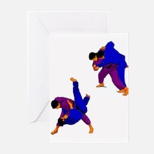 Dual-color Judo Throw Greeting Cards (Pk of 10