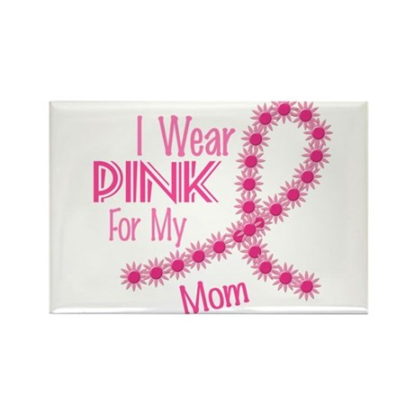 I Wear Pink For My Mom 26 Rectangle Magnet (100 pa