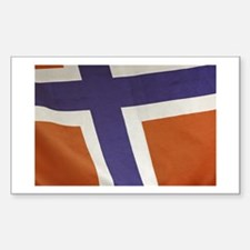 Proud to be Norwegian! Rectangle Decal