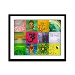 Smiling Buddha Patchwork Framed Panel Print
