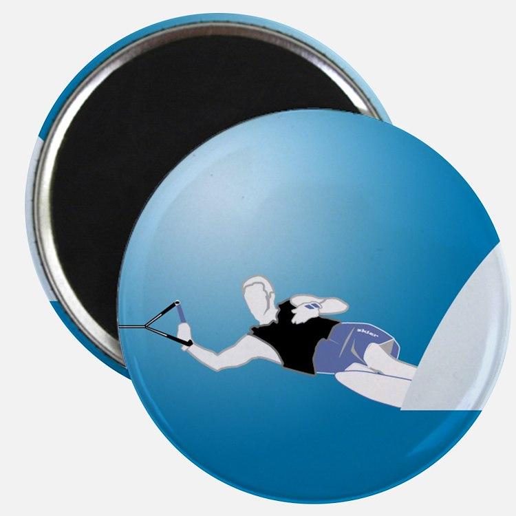 Slalom WaterSkier Magnet
