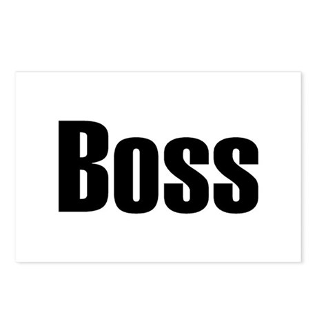 Boss Postcards (Package of 8)